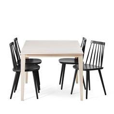Please matbord - 140 cm, vitolja, 1 ilägg - Matbord – Svenssons i Lammhult Dining Chairs, Furniture, Home Decor, Decoration Home, Room Decor, Dining Chair, Home Furnishings, Home Interior Design, Dining Table Chairs