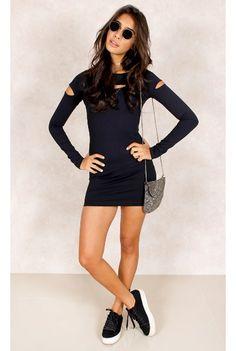 Vestido Recortes Model Preto Fashion Clsoet - fashioncloset #fashioncloset #adidas #rihnna #puma #dress #vestido