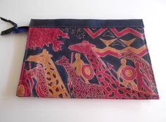 Giraffe Clutch Vintage Hand Tooled Painted by looseendsvintage, $24.00