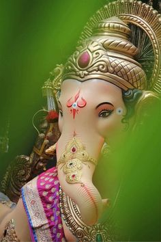 Happy Ganesh Chaturthi I mages Jai Ganesh, Ganesh Lord, Ganesh Idol, Shree Ganesh, Ganesha Art, Lord Shiva, Lord Vishnu, Ganesh Chaturthi Photos, Happy Ganesh Chaturthi Images