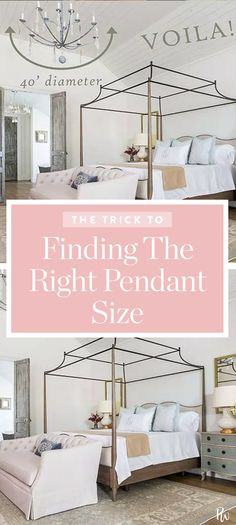 The Nifty Rule for Figuring Out What Size Light to Hang #purewow #shopping #home #decor