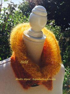 f5a2931de927 Un Grand Marché   Femmes flamboyantes en Automne · Col Mohair et  Soie,Taille Unique ,Lumière d Automne