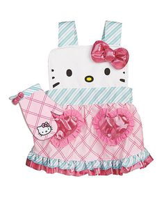 This Hello Kitty Apron & Oven Mitt is perfect! #zulilyfinds