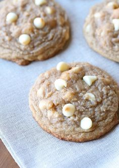Soft Brown Sugar Cinnamon Cookies with white chocolate chips are so over the top delicious!