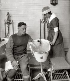 """How things have progressed! Washington circa 1920. """"Walter Reed physiotherapy story."""""""