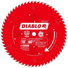 Diablo 10 in. x 60 Tooth Carbide Circular Saw Blade-D1060X at The Home Depot