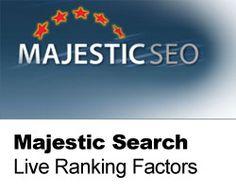 Majestic Search Launches Live Rank Factors