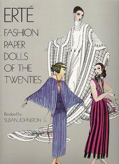 Erté Fashion Paper Dolls of the 1920's - Lison, Paulette and Claudette