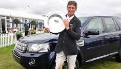 Andrew Nicholson with the Land Rover Burghley Trophy Burghley Horse Trials, Stamford, Equestrian, Horses, Cars, Horseback Riding, Autos, Car, Automobile