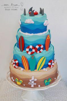 Image result for modelo de adesivo para festa infantil de surf