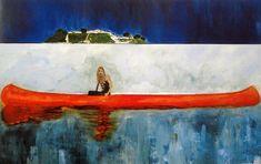 Peter Doig-Barca Roja