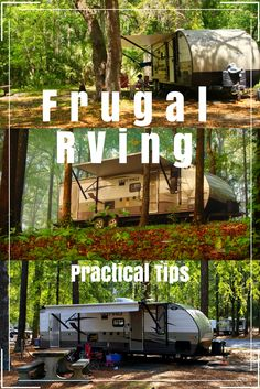 You can be a frugal RVer! We share 5 practical ways to save money and make your next vacation, extended trip, or even RV life enjoyable and affordable!!