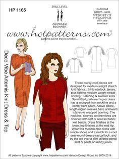 HP 1165 Deco Vibe Artemis Knit Dress & Top