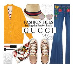 """""""Presenting the Gucci Garden Exclusive Collection: Contest Entry"""" by beebeely-look ❤ liked on Polyvore featuring Gucci, jeans, floralprint, gucci and polyvorecontest"""