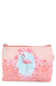 Catseye London 'Flamingo' Cosmetics Case available at #Nordstrom