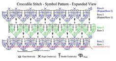 Crocodile Stitch crochet