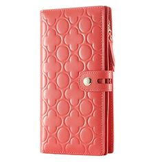 contacts womens genuine leather long wallet embossing purse orange contacts httpwww - Color Contacts Amazon