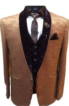 Dashing Golden Designer Blazer