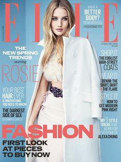 Rosie Huntington-Whiteley - Elle UK, February 2015