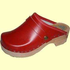 Red Swedish Clog $78.95 Clogs feel soooo good on the foot....[if you do not have a high instep]