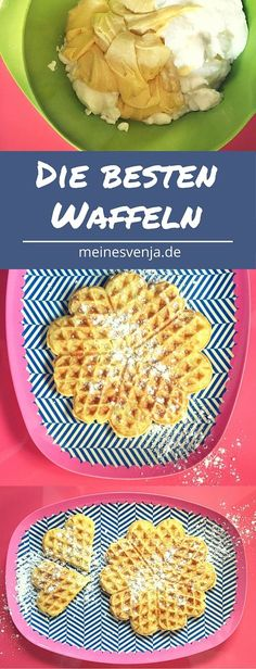 Waffeln Grundrezept Basic waffle recipe for happy children. The waffle recipe is particularly fluffy Best Waffle Recipe, Best Pancake Recipe, Waffle Recipes, Butter Pasta, Sweet Bakery, Crepe Recipes, Curry Recipes, Cakes And More, No Bake Cake