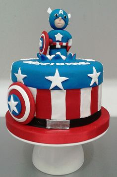 Captain America custom #birthdaycake