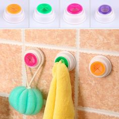 New Bathroom Kitchen Wash Cloth Towel Clip Holder Dishclout Storage Rack Hook #Unbranded