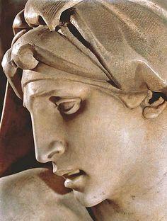 Dawn - Michelangelo - Medici Chapel - S. Lorenzo, Florence - tomb of Lorenzo II… Kandinsky, Michelangelo Sculpture, Michael Angelo, Italian Sculptors, High Renaissance, Italian Art, Art Plastique, Ancient Art, Sculpture Art
