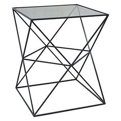 Prismatic Glass Side Table by NF Living