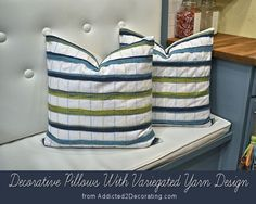 DIY: Decorative Pillows With Variegated Yarn Design