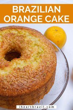 Orange Bundt Cake, Lime Cake, Brazilian Carrot Cake Recipe, Cakes Made With Oil, Orange Olive Oil Cake, Brazilian Dishes, Afternoon Tea Recipes, Bundt Cake Pan, Orange Recipes