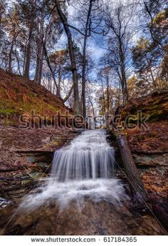 Beautiful landscape with a small waterfall in Estonia. Shutterstock contributor.