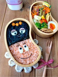 《キャラ弁》バーバパパとママのお弁当♡作り方♡最近のお弁当いろいろ〜