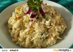 "Zelný ""vlašák"" recept - TopRecepty.cz Czech Recipes, Ethnic Recipes, Salad Recipes, Snack Recipes, Hungarian Recipes, What To Cook, Potato Salad, Food To Make, Food And Drink"