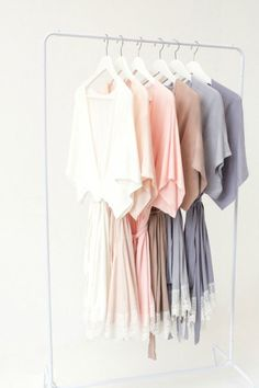 22dcd5605b2 Beauties in hushed pastels. Do you have a Plum Pretty Sugar robe hanging in  your wardrobe  Bridesmaid Get Ready OutfitBridesmaid ...