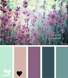 Purple and greens, a beautiful colour palette for rosebuds or vintage roses.