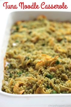 This Easy Tuna Noodle Casserole makes for a quick and inexpensive comforting family meal. With just a few ingredients and just a few minutes time, you can have dinner on the table quite quickly. Tuna Noodle Casserole My grandmother always made large casserole dishes that would stretch to serve the whole family. Quite often, she …