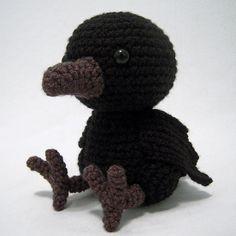 Ворона амигуруми. Схема вязания.