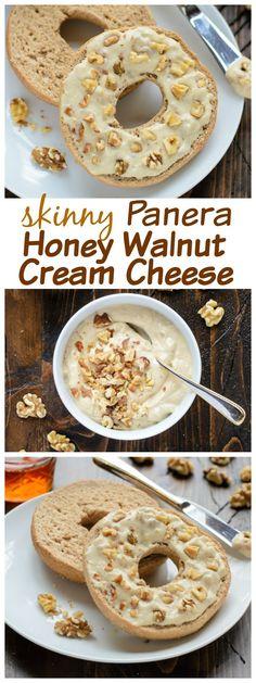 Skinny Copycat Panera Honey Walnut Cream Cheese made with tofu. {vegan and paleo-friendly!}
