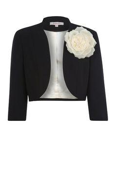 Black Bolero Jacket http://www.weddingheart.co.uk/jacques-vert.html