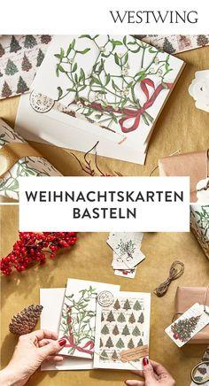 In der Vorweihnachtszeit gehört das Verpacken der Geschenke zu unserer absoluten Lieblingsbeschäftigung. Aber nicht nur das Kleben, Binden und Stempeln auf Geschenkpapier macht uns große Freude. Denn auch außergewöhnliche Weihnachtskarten basteln steht bei uns ganz oben auf der To-Do-Liste!/Westwing Weihnachtskarte selber basteln gestalten mit Kindern modern kreativ einfach Tannenbaum christmas card DIY xmas 2021 new year aquarell ideas design kids Weihnachten Advent Diy Xmas, Advent, Gift Wrapping, Gifts, Design, Home Decor, Present Wrapping, Stamping, Christmas Decorations
