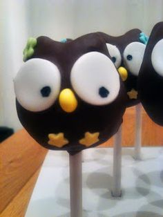 Owl Cake Pops, idea 1.