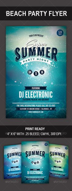 Super Summer Party Flyer #anchor #show  • Download here → https://graphicriver.net/item/super-summer-party-flyer/8596676?ref=pxcr