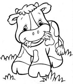 Pritnable dairy cow coloring pages for kids. Print out farmer a happy babay cow coloring pages for preschool.Pritnable dairy cow coloring pages for kids. Farm Animal Coloring Pages, Coloring Book Pages, Printable Coloring Pages, Coloring Sheets, Baby Farm Animals, Happy Cow, Cute Cows, Copics, Coloring Pages For Kids