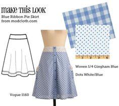 (via MTL: Blue Ribbon Pie Skirt - The Sew Weekly Sewing Blog & Vintage Fashion Community)