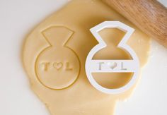 Custom Wedding Ring Initials Cookie Cutter by HomePrint3D on Etsy