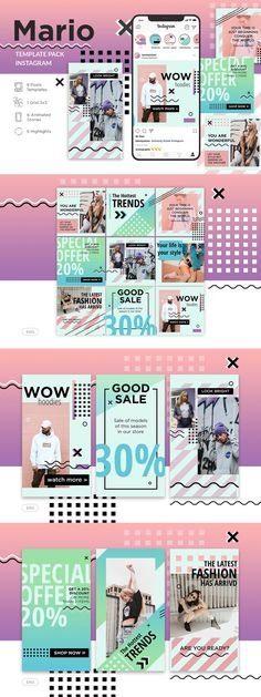 Fashion Sale, Latest Fashion, Banner Template, Mario, Cool Style, Packing, Ads, Templates, Instagram