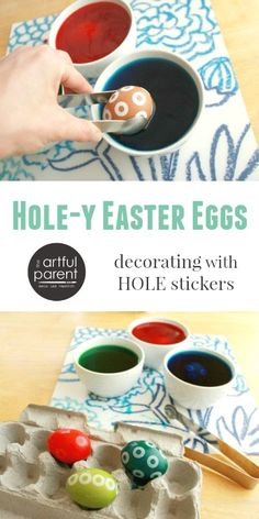 Hole-y Easter Egg Decorating