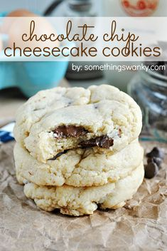Chocolate Chip Cheesecake Cookies are about as good as it gets! Real cream cheese in the dough gives these cookies their REAL cheesecake tas...