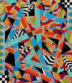 "Serie Aleatoire 25 by Michele A Caron  ~ 16 3/4"" x 14 1/2"""